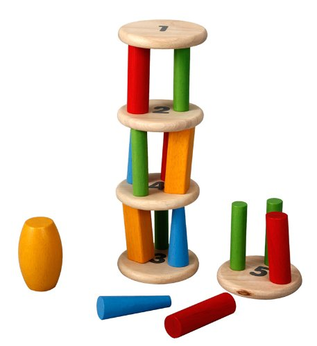 Plan Toys Plan Preschool Tower Tumbling Game and Puzzle