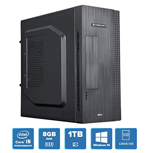MAXCOREPC Speed MT5811 Desktop PC (Intel Core i5-2400 2.5 Ghz (Max 3.1 Ghz), 8GB DDR3, Intel HD Graphics, 120GB SSD, 1TB HDD 7200RPM, WiFi & Win 10) Black