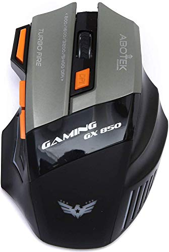 WARHAMMER GX-850 5400 DPI Programmable Gaming Mouse with Breathing Light and 7 Buttons (Black) (Without Mousepad)