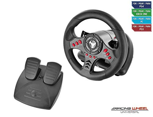 Subsonic SA5426 Racing Wheel with Pedals for Playstation 4, PS4 Slim/Pro, Xbox One/One S, PS3