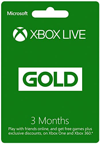 XBOX LIVE 3 Month Gold Membership Card (XBOX 360 & XBOX ONE)