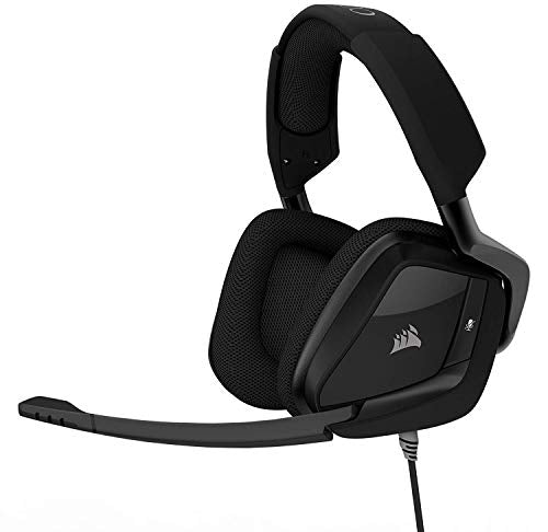 CORSAIR VOID PRO SURROUND Gaming Headset - Dolby 7.1 Surround Sound Headphones for PC - Works with Xbox One, PS4, Nintendo Switch, iOS and Android - Carbon