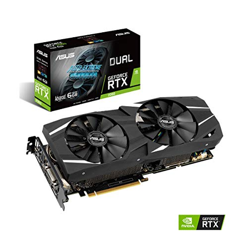 ASUS Dual RTX 2060 Advanced 6G VR Ready Gaming Graphics Card - Turing Architecture (Dual RTX 2060-A6G)