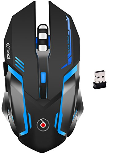 Offbeat Ripjaw 1 Rechargeable Wireless Gaming Mouse (Black)