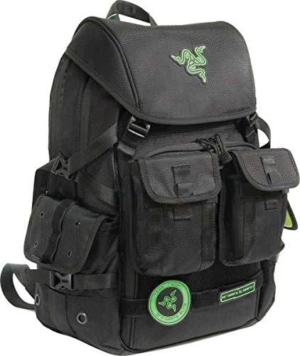 Razer Tactical Pro Backpack 17.3-Inch 1680D Ballistic Nylon, Tear and Water Resistant - Rc21-00720101-0000