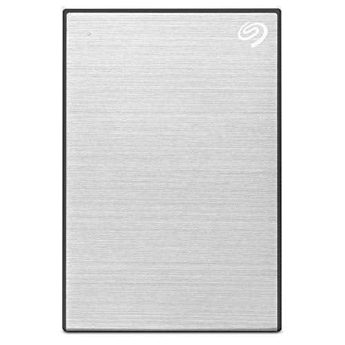 Seagate 2TB Backup Plus Slim Portable External Hard Drive with Free 2 Month Adobe CC Photography Plan - Silver (2019 Edition)