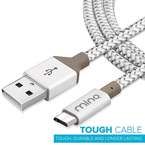 MINQ - 1M 2. 4 Amps Micro USB (Fast Charging and High Speed Data Cable) for Samsung, Xiomi MI, Oppo, Vivo (Silver)