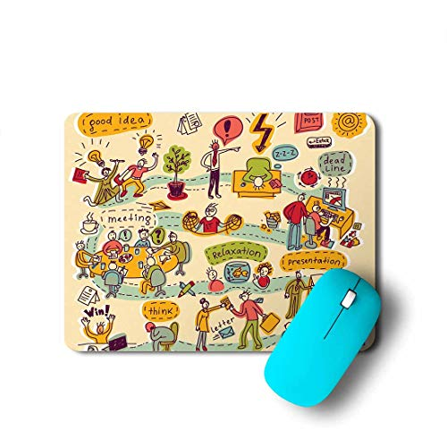 100yellow Office Cartoon Designer Gaming Mouse Pads for Laptop and Computer