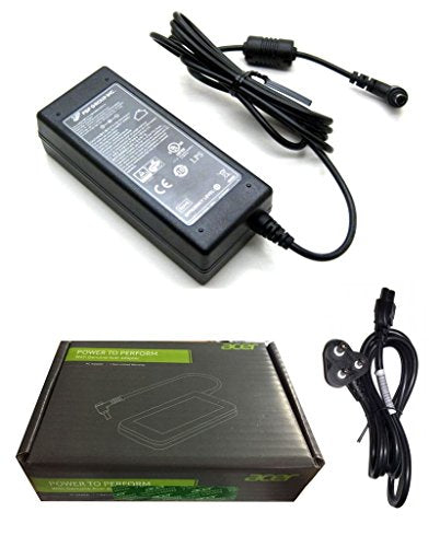 FUGEN Power Cable and Laptop Battery Adapter Charger 65w 19v 3.42a for Acer Aspire 4500 4520 4520g 4530 4535g 4540g 4551g