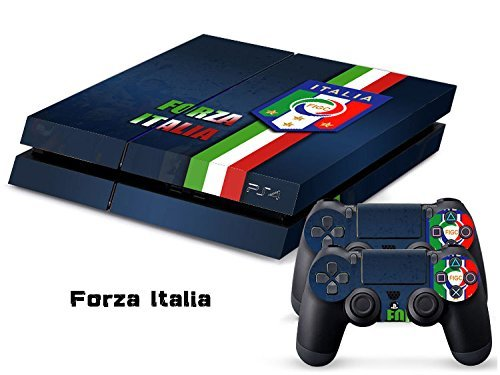 Elton Forza Italia Destination of Italy Italian Football International Soccer Theme 3M Skin Decal Sticker For PS4 Playstation 4 Console Controlle