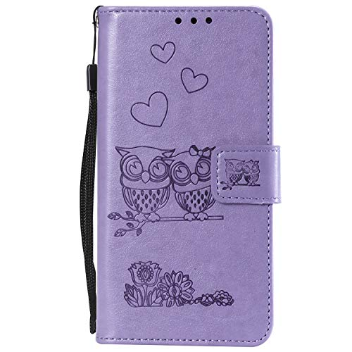 NEXCURIO Samsung Galaxy A5 (2017) / A520 Wallet Case with Card Holder Folding Kickstand Leather Case Flip Cover for Galaxy A5 (2017) - NEHHA100060 Purple