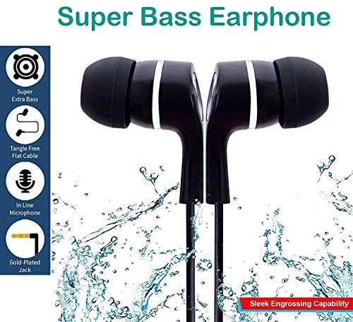 SR Global in Ear Earphone/Headphone with Mic & Super HD Bass Stereo for All Mobile Phones Model 161088