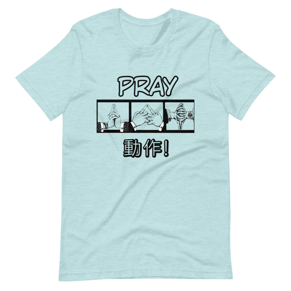 "@grandmasterquill ""Pray by Action"" Kawaii T-Shirt"