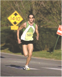 Cameron George shown here in 2008 won the Hogeye Marathon that year