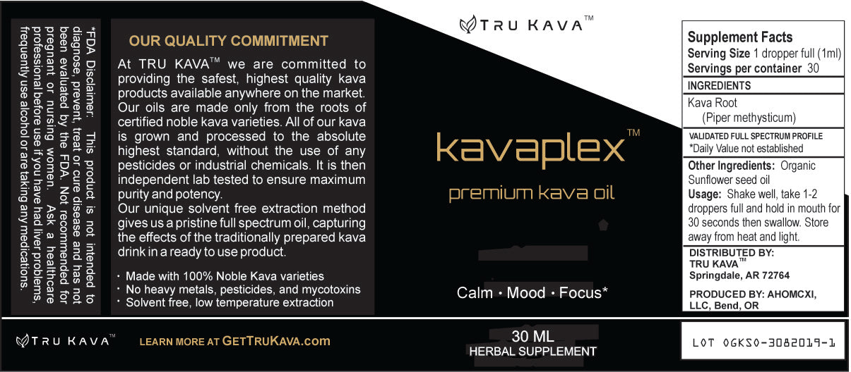 Cold Pressed Full Spectrum, Kava Oil
