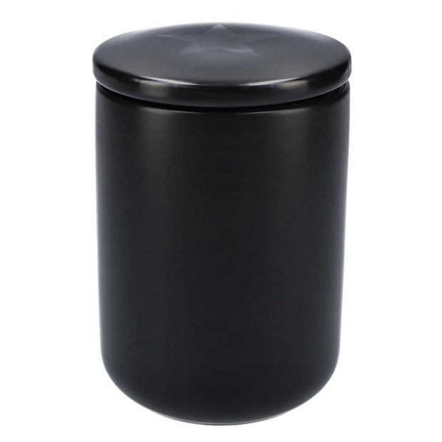 Famous-Stash Jar with Ceramic Lid-Black-Small 800ml