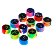 Famous Design Zodiac Jar of 50pcs-32mm Silicone Extract Containers Multi Colors