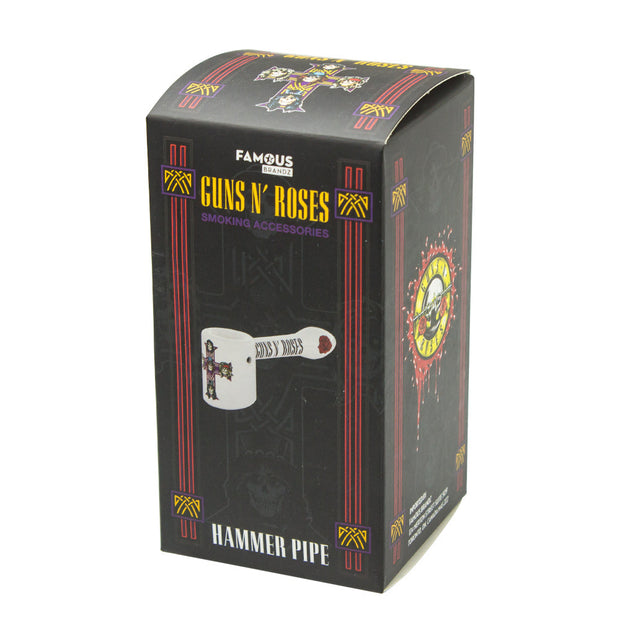 GUNS N' ROSES CROSS 5 IN HAMMER HAND PIPE