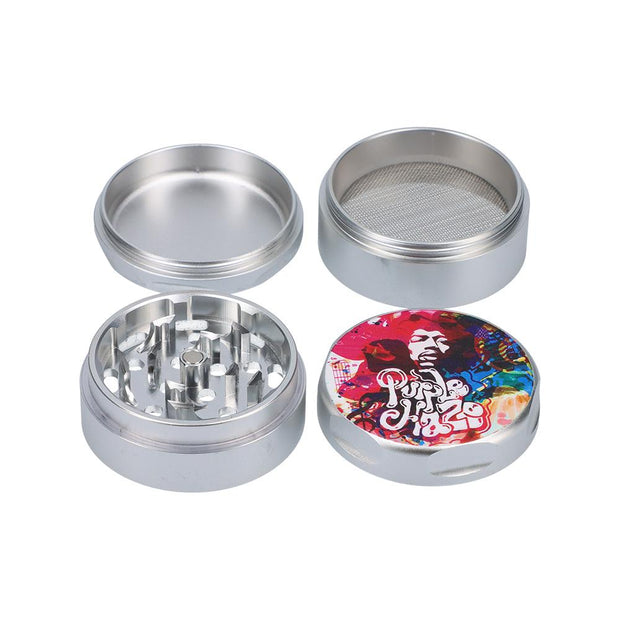 Rock Legends Jimi Rainbow Haze 3 Stage Grinder Silver 55mm
