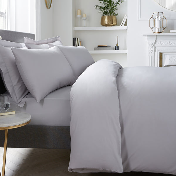 Plain Dye - 400TC Duvet Cover Set - in Silver by Appletree Signature