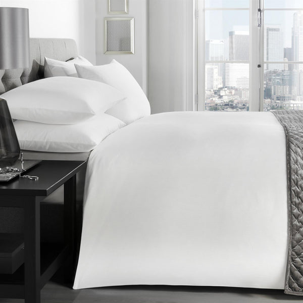 Florence - 200TC 100% Cotton Duvet Cover Set in White - by Signature