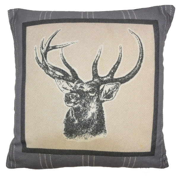 Connolly Check - Charcoal Filled Square Cushion - by Dreams & Drapes