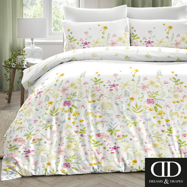 Aimee Multicolour - Easy Care Floral Bedding - by Dreams & Drapes