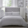 Amalfi - Easy Care Pintuck Duvet Cover Set in Grey - by Serene