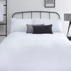 Amalfi - Easy Care Pintuck Duvet Cover Set in White - by Serene