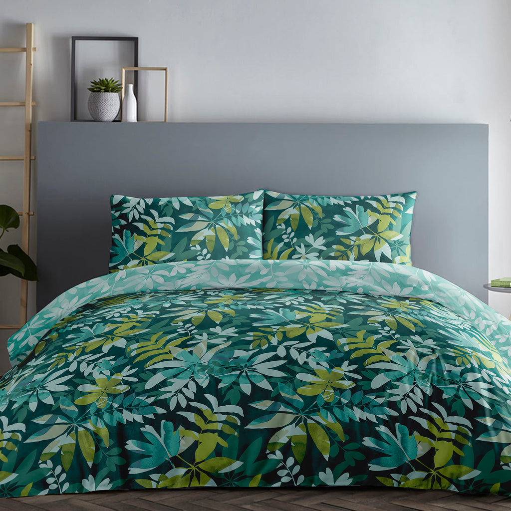 Amara- 100% Cotton Duvet Cover Set in Teal - by Appletree