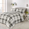 Balmoral Grey - Easy Care Duvet Cover Set - By Fusion