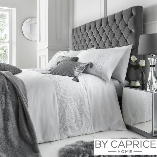 Bardot - White Duvet Cover Set - By Caprice Home
