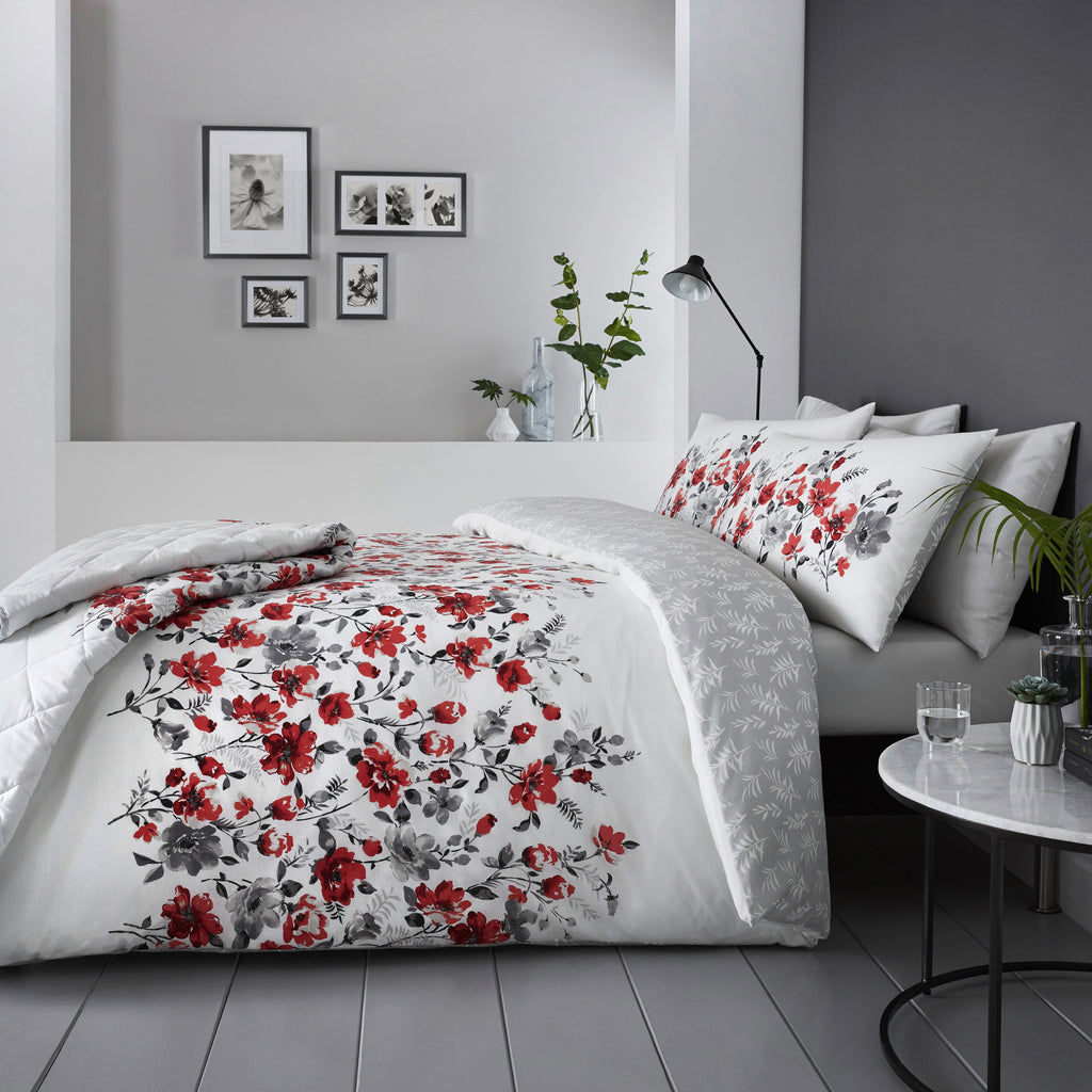 Gabriella Red - Easy Care Bedding - by Dreams & Drapes