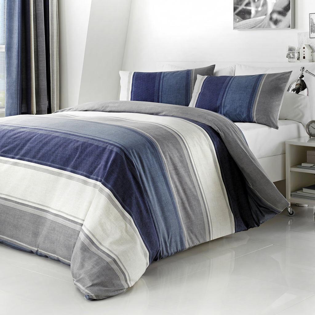 Betley Blue - Easy Care Duvet Cover Set - By Fusion