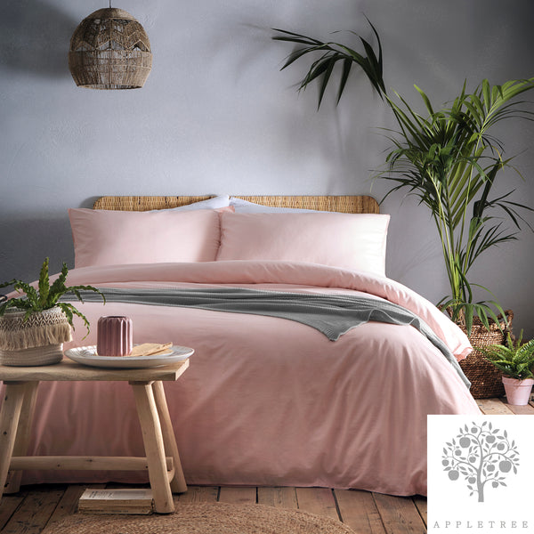 Cassia Coral - 100% Relaxed Cotton Duvet Cover Set - by Appletree Signature