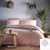 Cassia Coral - 100% Relaxed Cotton Duvet Cover Set - by Appletree Loft