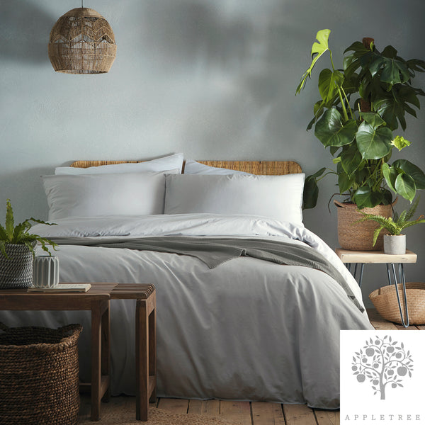 Cassia Silver - 100% Relaxed Cotton Duvet Cover Set - by Appletree Signature