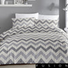 Chevron Grey - Easy Care Duvet Cover Set - By Fusion