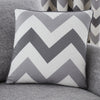 Chevron - Filled Square Cushion - by Fusion