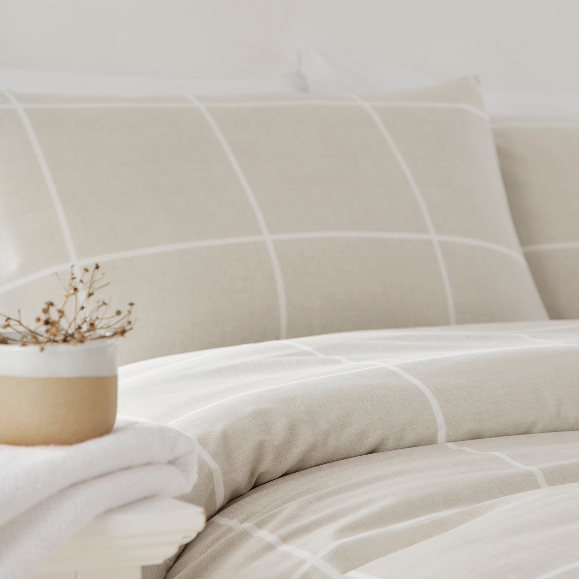 Chiswick - Eco-Friendly Duvet Cover Set in Natural by Drift Home