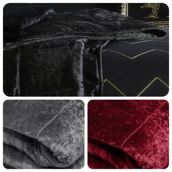 Concierge Crushed Velvet Bedspread - by Laurence Llewelyn-Bowen