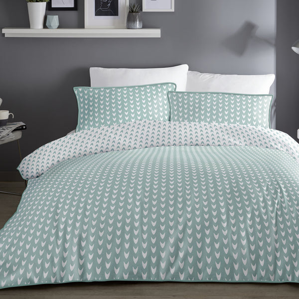Dari - 100% Cotton Duvet Cover Set in Duck Egg by Appletree