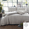 Delta Stripe - 100% Cotton Duvet Cover Set in Linen- by Appletree Signature