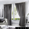 Dijon - Blackout Pair of Pencil Pleat Curtains in Charcoal - by Fusion