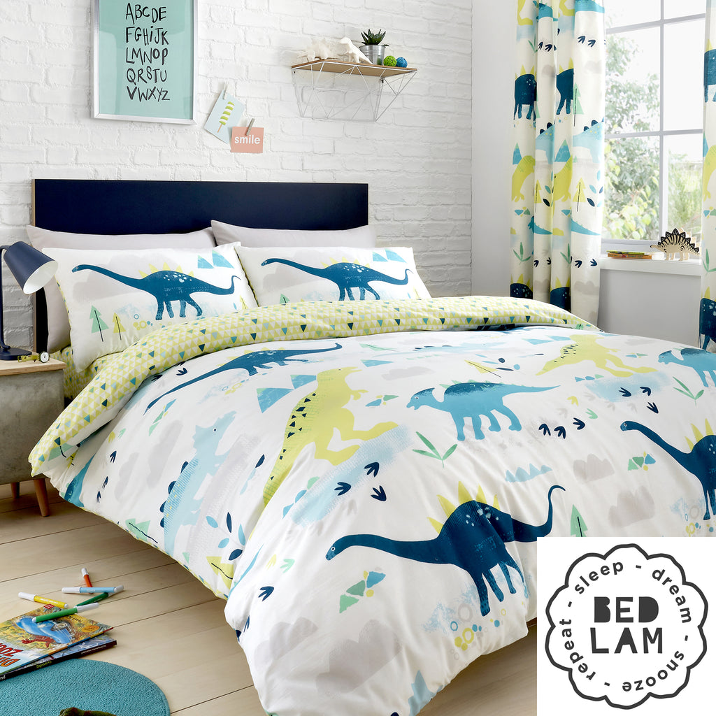 Dino - Glow In The Dark Bedding, Curtains & Fitted Sheets - by Bedlam