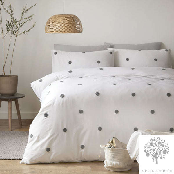 Dot Garden Slate - 100% Cotton Duvet Cover Set by Appletree Signature
