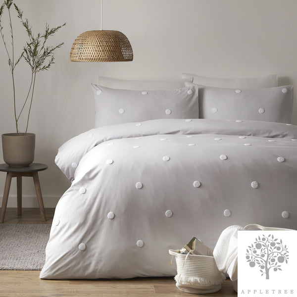 Dot Garden Silver- 100% Cotton Duvet Cover Set by Appletree Signature