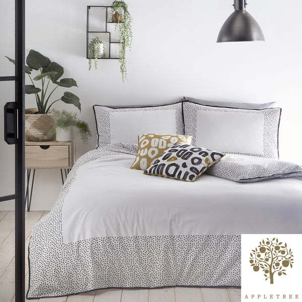 Dottie - 100% Cotton Duvet Cover Set in White -  by Appletree