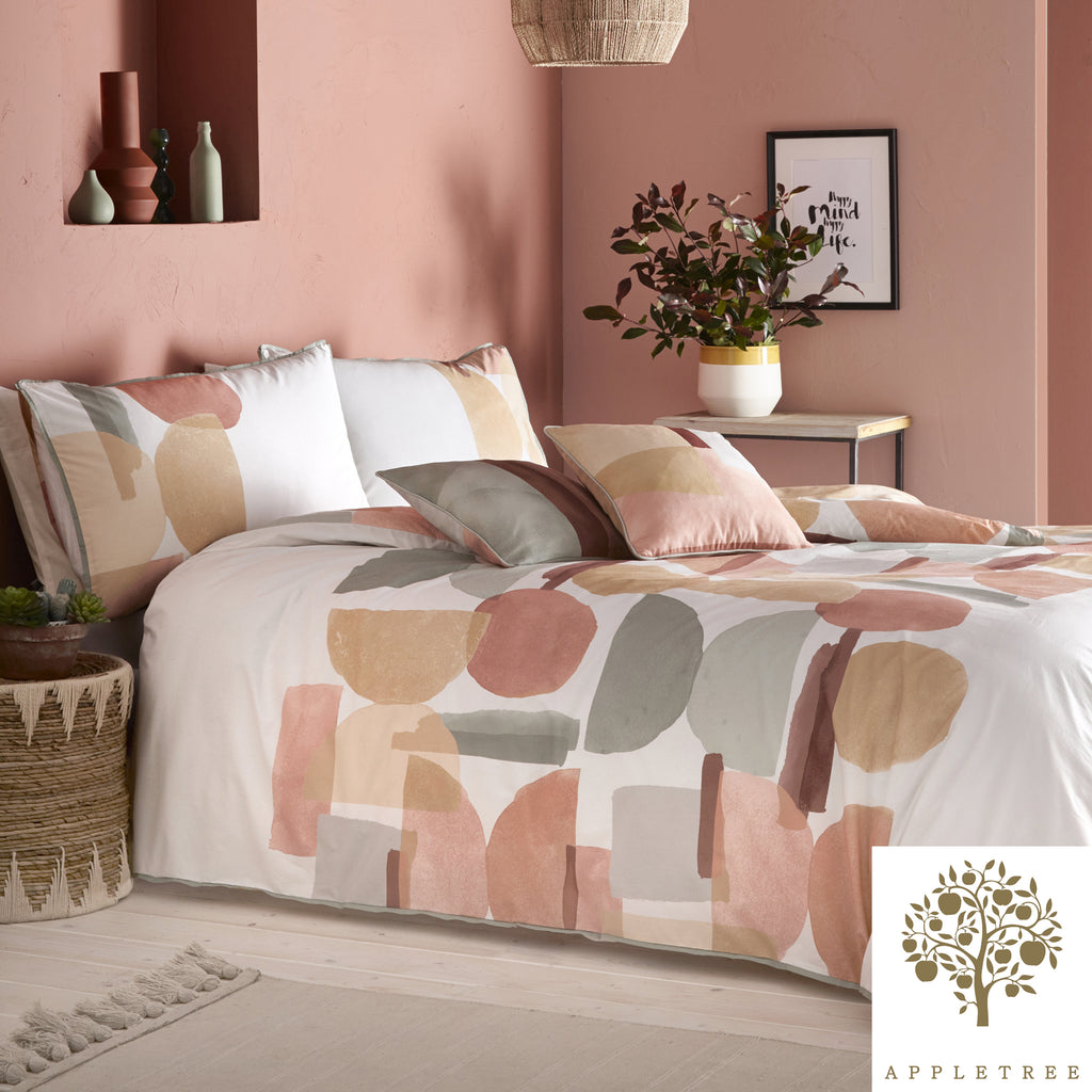Duval - 100% Cotton Duvet Cover Set in Coral -  by Appletree