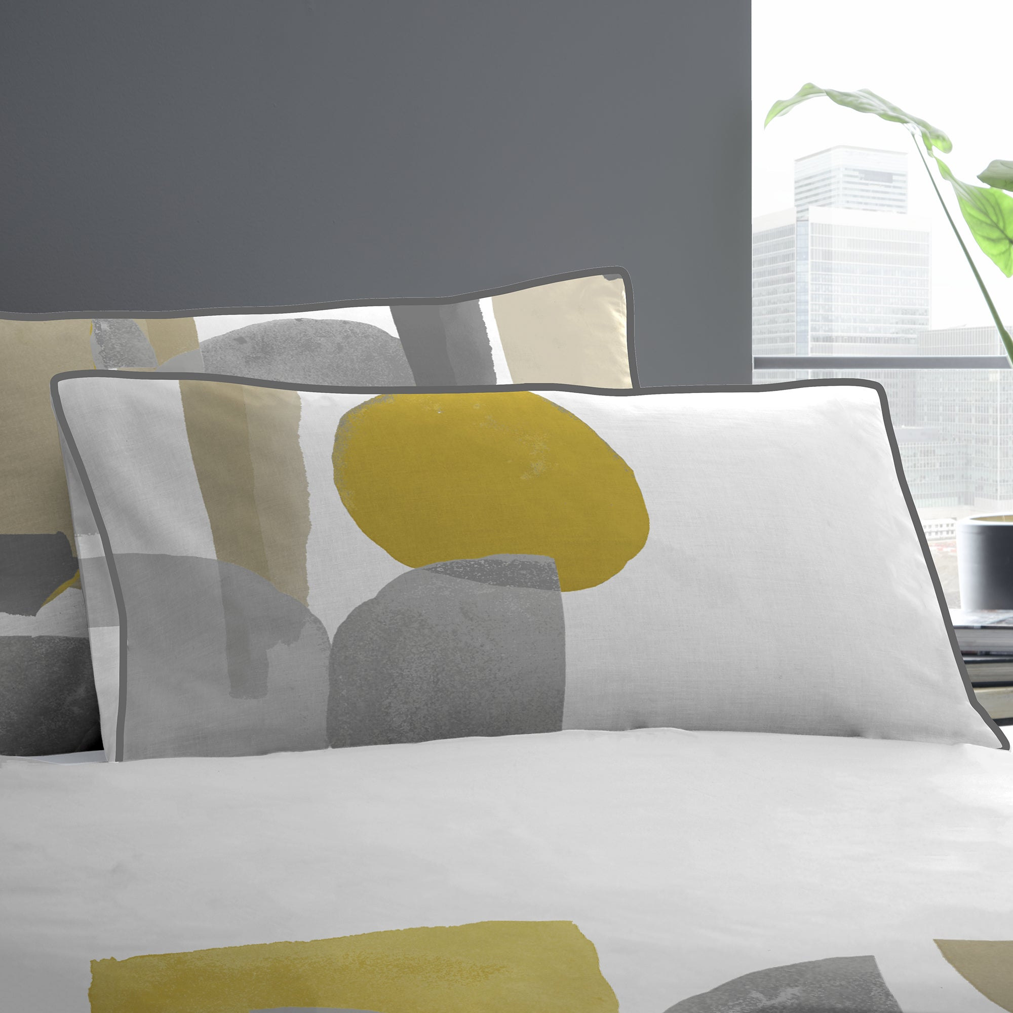 Duval - 100% Cotton Duvet Cover Set in Ochre - by Appletree Style